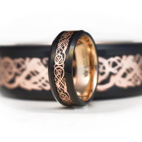 Rose Dragon Finger Ring
