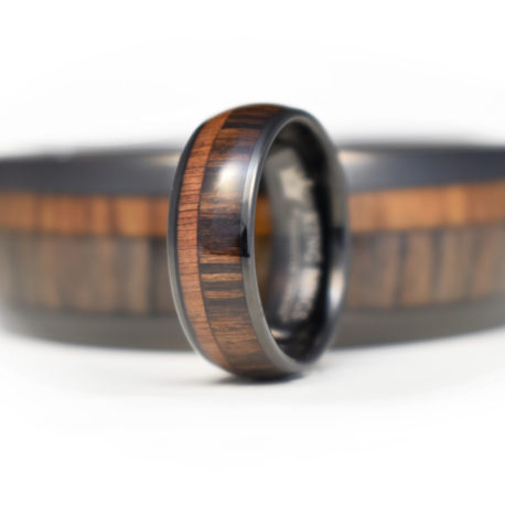 Wood Inlay Finger Ring