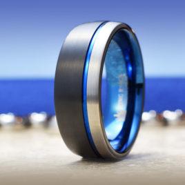 Blue Horizon Luxury Tungsten Carbide Metal Cock Ring
