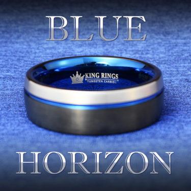 Blue Horizon Tungsten Carbide Metal Cock Ring